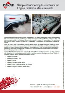 Engine emission dilution systems